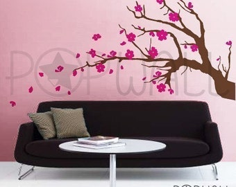 Tree, Flower,  Cherry Blossom Branch Wall decal Wall sticker vinyl- wall decor - 079 -