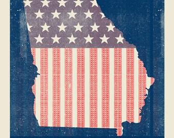 Georgia Empire State Of The South silkscreen