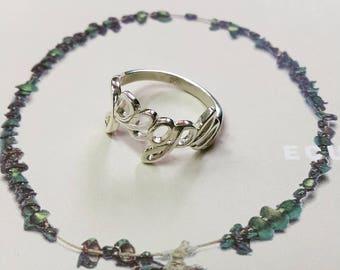 925 Sterling Silver Custom Name Ring