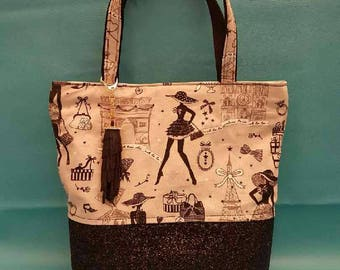 Tote for little black dress