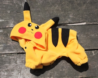 Pokemons Pikachu Costume - All breeds - Helloween Pet Costume - Pokemon Theme - Dog Clothing - Dog Coat - Pet Clothing