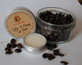 Coffee & Mango Eye Cream - Natural Anti-Aging Eye Skin Care - Puffy Eyes Cream - Lightens Dark Circles - No Bee Wax - Vegan - All Natural