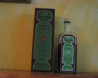 Vintage Konjola Medicine Bottle and Box