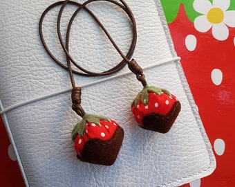 Chocoberry Charm or Bookmark