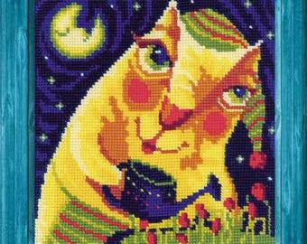 Midnight Tulips - Cross Stitch Kit from RIOLIS Ref. no.:1130