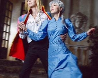 MADE TO ORDER - Anime Manga Howl moving castle - Howl Cosplay Costume