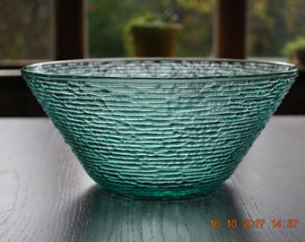 "Anchor Hocking Aquamarine Soreno 11"" Salad / Dessert  bowl"