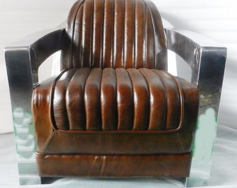 Aviator arm chair Vintage Club Chair Leather Chair Aviator furniture Aviator Chair Baar Chair
