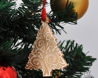 Wooden Christmas tree toy Christmas tree decoration Christmas ornaments Christmas toys Wooden toys