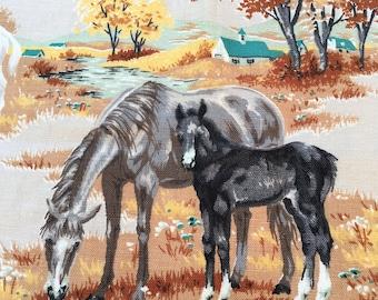Vintage Horse Fabric