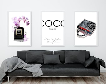 Chanel Wall Art, Coco Chanel Perfume, Coco Chanel Quote Chanel Handbag Coco Chanel Prints Coco Chanel Poster Fashion Wall Art Fashion Prints