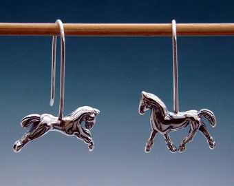 Horse Earrings / Wire or Post