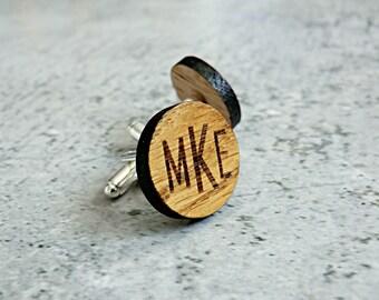 Personalized Cufflinks Wooden Groomsmen Cufflinks Groomsmen gift ideas Groom gift Wedding cufflinks Wedding Gifts for men Best man gift