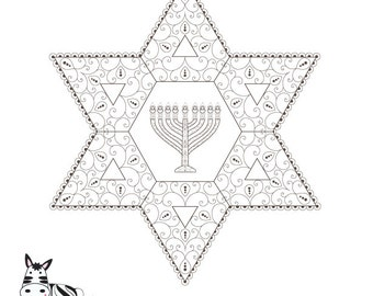 Hanukkah Menorah Coloring PageHanukiah PrintableCanukkah