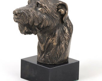 Irish Wolfhound, dog marble statue, limited edition, ArtDog