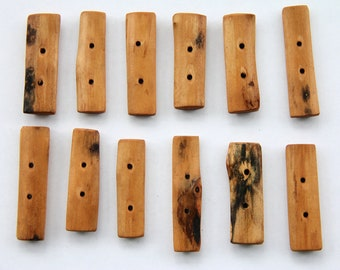 maple branch toggles -  3 x .75 inch - 3 pieces