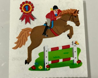 Vintahe Sandylion Equestrian Horse Riding Stickers