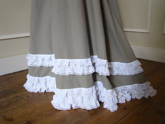 1900 ruffle with lace cotton Edwardian Skirt OqZdAA