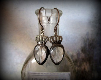 Rustic Handcrafted Soldered Pendant Earrings