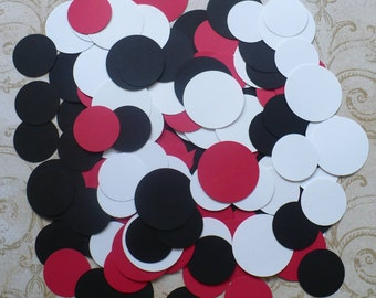 3 sizes Black / Red / White Circle / Circles / Shapes / pieces for crafts DIY Garland Tags 4 Parties or Choose your Colors