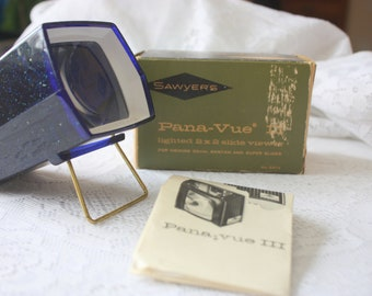 Vintage Sawyer's Pana-Vue Slide Viewer, Sparkly Blue Vintage Slide Viewer,Vintage Slide Viewer
