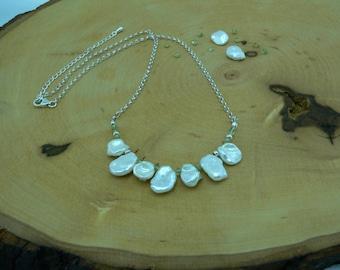 Reiki Healing Necklace, Pearl Necklace, Peridot, Bib Necklace, Confidence, Self-Love, Prosperity Necklace