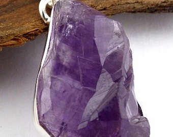 RAW AMETHYST, amethyst rough stone pendant natural chakra esotericism protection healing minerals NB31.1 care