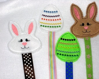 Easter basket filler - Easter Bunny and Easter egg bookmarks - Sunday school classes - Easter treats - party favors - book lovers