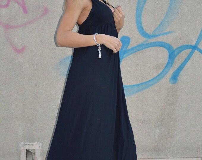 Plus Size Women Maxi Dress, Black Dress, Backless Sexy Long Dress, Cotton Dress, Oversized Casual Party Dress by SSDfashion
