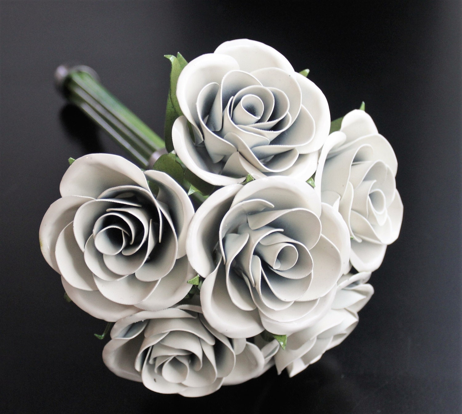 Metal rose wedding bouquet bridal bouquet rose bridal bouquet metal rose wedding bouquet bridal bouquet rose bridal bouquet metal rose wedding flowers bridesmaid bouquet wedding flowers izmirmasajfo