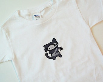 Ninja Kitty Children's T-shirt (can be personalized!)