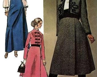 Simplicity 9018 Majestic Jacket, Blouse & Wrap Skirt / ca. 1970 / SZ12 UNCUT