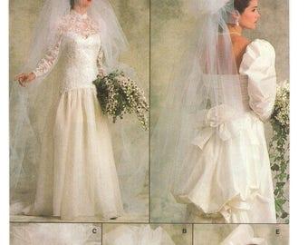 Vogue Sewing Pattern 9822 c. 1987 Veil & Headpiece ONE SIZE Uncut / Unused