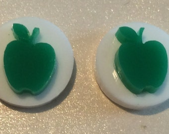 Apple stud with circle earrings
