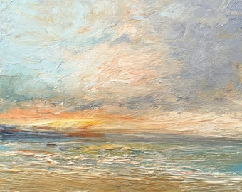 Sunset Seascape Oil Painting