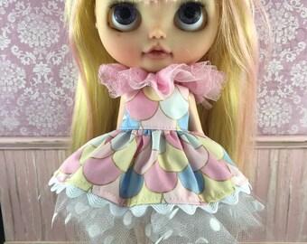 Blythe Tutu Dress Set - Pastel Mermaid