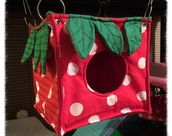STRAWBERRY Design - Strawberry Cube Hammocks for Rats Ferrets Chinchilla Gerbil Degu