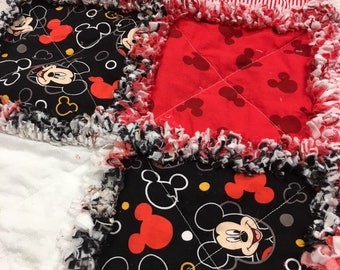 Mickey Mouse Child Rag Quilt