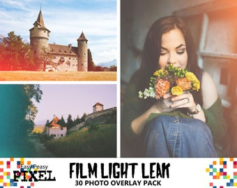 FILM LIGHT LEAK Overlays, Light Leak, Light Leaks, Vintage Overlays, Digital Light Leak, Light Leak Effect