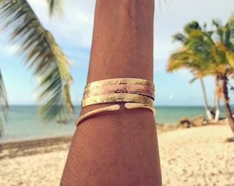 Hammered Cuff Gold Filled Handmade