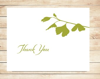 Ginkgo Thank You Cards