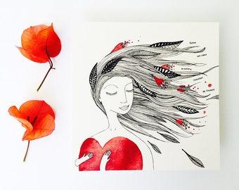 Card follow your heart