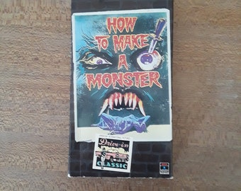 How to Make a Monster VHS movie, vintage horror