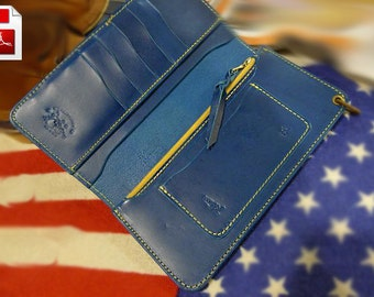 Leather wallet pattern Leather pattern Leather purse pattern Long wallet pattern Leather template Leathercraft pattern Leather DIY