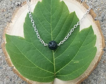 Single Lava Bead Necklace for use with Essential Oils