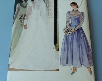 VOGUE Bridal Original Bridal Dresses and Petticoat Pattern size 16 UNCUT