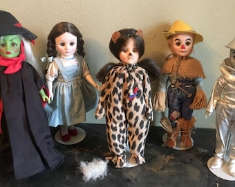 Lot of 5 Vintage Effanbee Wizard of Oz Collector Dolls