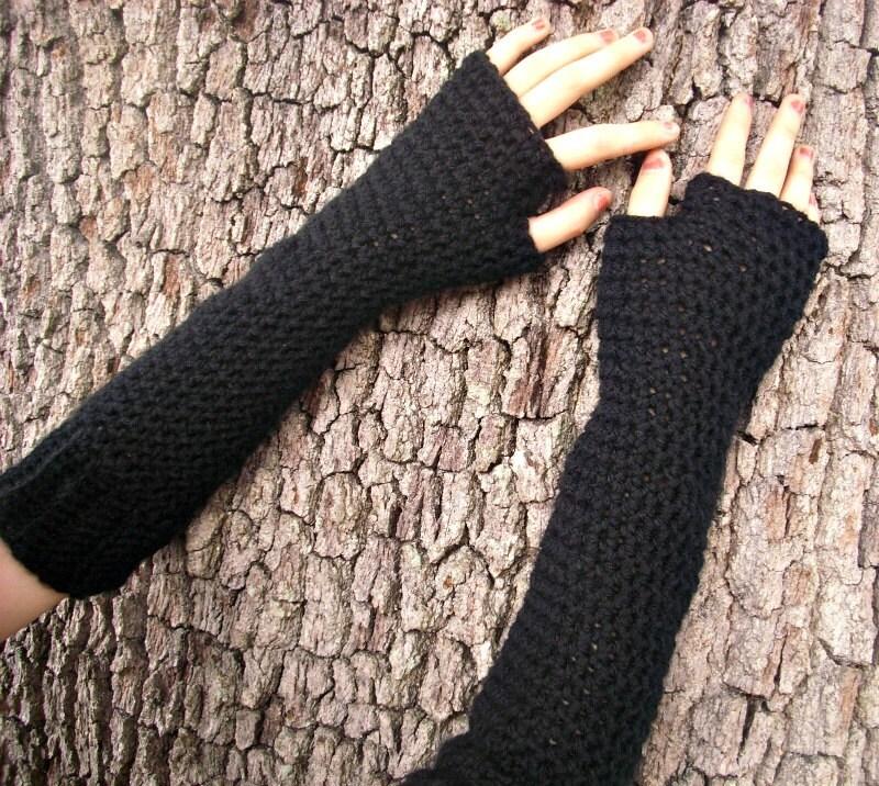 Crocheted Fingerless Gloves Mittens Long Fingerless Gloves