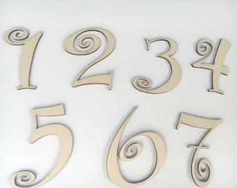 Number cutouts, Wooden Numbers, Birthday numbers, , Number blanks, Birthday Number lot, Wood Letter, Number lot, Number blank