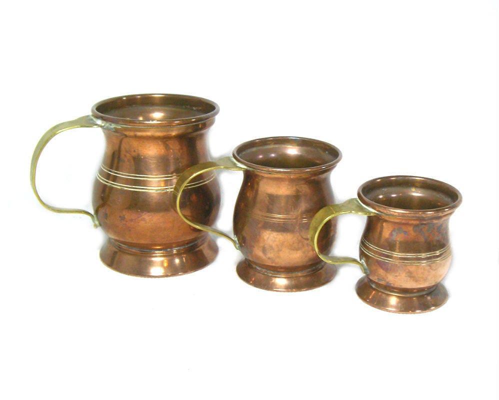 Antik Kupfer Kupfer Tassen Kupfer Maßnahmen Kupfer Küche